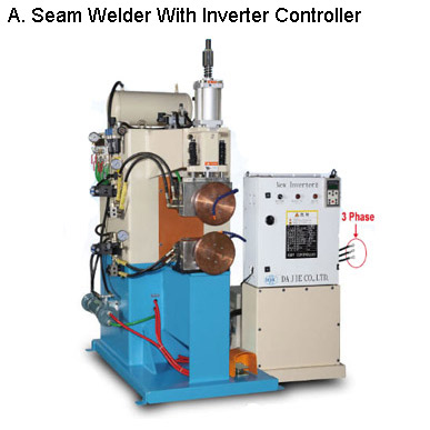 Resistance Type Seam Welder & Heating Machine With (Precision) Inverter Control System