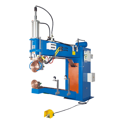 Automatic Air Pressure Horizontal Rolling Welder For Top & Bottom Cover, DJ-WT8
